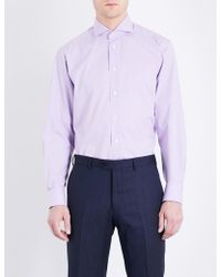 Eton of Sweden - Gingham Checked Contemporary-fit Cotton Shirt - Lyst