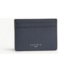 Sandro - Saffiano Leather Card Holder - Lyst