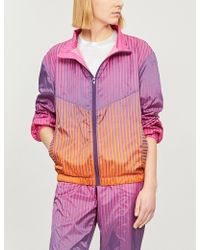House of Holland - Stripe-print Stand-collar Track Jacket - Lyst