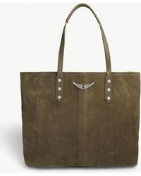 Zadig & Voltaire - Mick Suede Tote Bag - Lyst