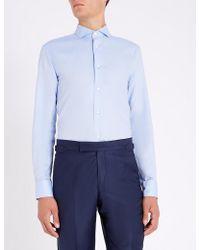 Emporio Armani - Modern-fit Cotton Shirt - Lyst