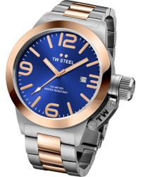 TW Steel - Cb141 Canteen Rose Gold And Stainless Steel Watch - Lyst