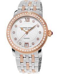 Frederique Constant - Fc303whf2pd4b3 Rose Gold-plated Stainless Steel And Diamond Watch - Lyst
