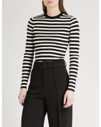 Mo&co. - Striped Knitted Jumper - Lyst