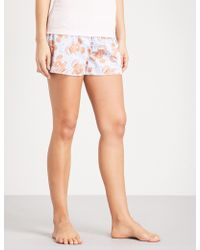 PETER ALEXANDER | Christmas Cracker Gingerbread Cotton Pyjama Shorts | Lyst