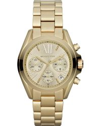 Michael Kors - Mk5798 Mini Bradshaw Gold-plated Watch - Lyst