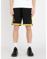 Marcelo Burlon - La Lakers Cotton Shorts - Lyst