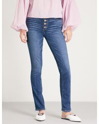 PAIGE - Hoxton Ankle Peg Skinny High-rise Jeans - Lyst