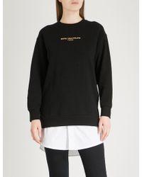 Chocoolate - Slogan-embroidered Cotton-jersey Sweatshirt - Lyst