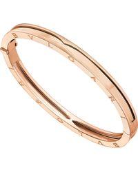 BVLGARI - B.zero1 18ct Pink-gold Bangle Bracelet - Lyst