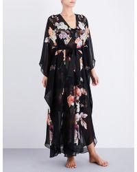 Meng - Floral-print Silk-chiffon Robe - Lyst