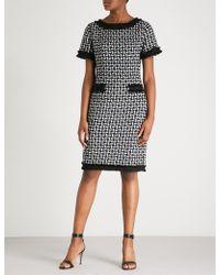 St. John - Metallic-detail Woven Dress - Lyst