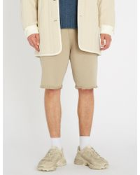 Helmut Lang - Distressed Cotton-jersey Shorts - Lyst