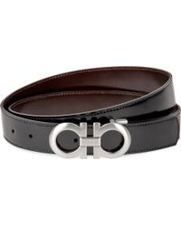 Ferragamo - Reversible Leather Logo Belt - Lyst