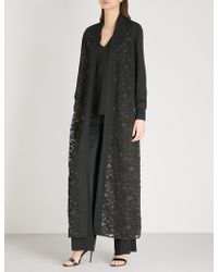 Elie Saab - Floral-lace Silk-blend Coat - Lyst