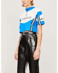Jaded London - Logo-print Stretch-jersey Cycling Top - Lyst
