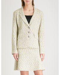 St. John - Flecked Tweed Jacket - Lyst