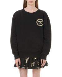 BOY London - Metallic Eagle Logo Cotton-jersey Sweatshirt - Lyst