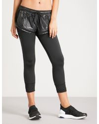 adidas By Stella McCartney - Performance Essentials Shell And Stretch-jersey Tights - Lyst