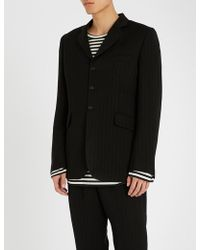 Ann Demeulemeester - Chevron-patterned Wool-blend Jacket - Lyst