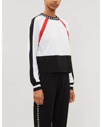 DKNY Downtown Logo-embroidered Jersey Pyjama Top - White