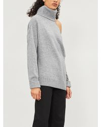 PAIGE - Raundi Turtleneck Cutout Wool-blend Jumper - Lyst