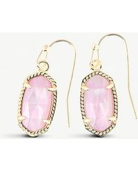 Kendra Scott - Lee 14ct Gold And Blush Mother-of-pearl Earrings - Lyst