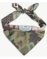 A Bathing Ape - Camouflage Print Shark Bandana - Lyst