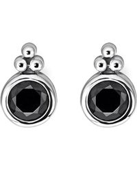 Thomas Sabo - Royalty Black Stone Sterling Silver Ear Studs - Lyst