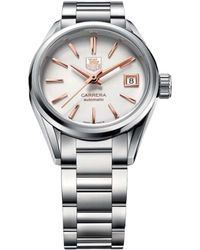 Tag Heuer - War2412.ba0770 Carrera Stainless Steel And Rose-gold Watch - Lyst