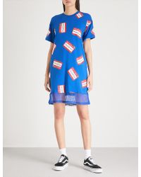 Mini Cream - Sticker-print Cotton-jersey Dress - Lyst