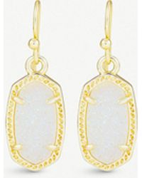 Kendra Scott - Lee 14ct Gold-plated And Mother-of-pearl Earrings - Lyst