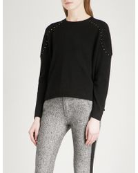 The Kooples - Stud Applique Wool And Cashmere-blend Jumper - Lyst