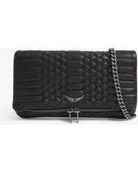 Zadig & Voltaire - Noir Black Rock Quilted Leather Clutch Bag - Lyst