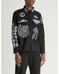 KTZ - Scout Patch Boxy-fit Cotton-twill Shirt - Lyst