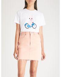 Chocoolate - Graphic-print Cotton-jersey T-shirt - Lyst
