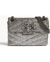 Kurt Geiger - Mini Mayfair Metallic Tweed Shoulder Bag - Lyst