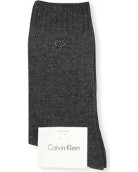Calvin Klein - Soft Touch Combed Cotton Socks - Lyst