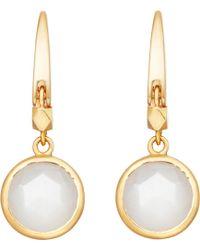 Astley Clarke - Stilla 18ct Gold-plated Moonstone Earrings - Lyst