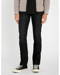 7 For All Mankind - Slimmy Luxe Performance Slim-fit Tapered Jeans - Lyst