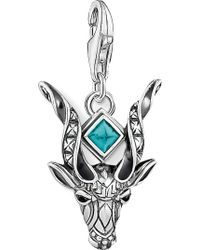 Thomas Sabo - Antelope Sterling Silver And Black Zirconia Charm - Lyst
