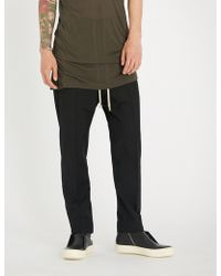 Rick Owens - Dropped-crotch Relaxed-fit Straight Wool Trousers - Lyst