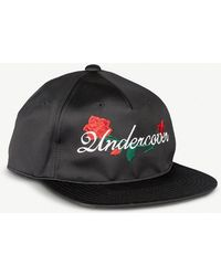 Undercover - Rose-embroidered Silk-satin Baseball Cap - Lyst