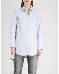 Mo&co. | Tie-detail Cotton Shirt | Lyst