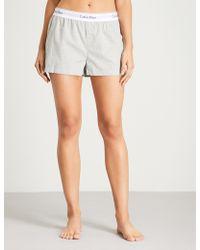CALVIN KLEIN 205W39NYC - Modern Cotton Cotton Pyjama Shorts - Lyst