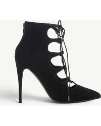 Steve Madden - Delightful Lace-up Suede Heels - Lyst