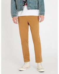 The Kooples - Chain-detail Slim-fit Cotton Skinny Trousers - Lyst