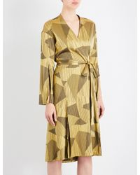 Aimee Kestenberg - Striped Jacquard Silk-blend Robe - Lyst