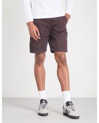 Stone Island - Logo-patch Cotton Shorts - Lyst