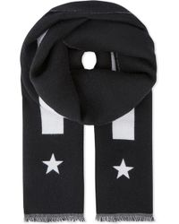 Givenchy - Stars And Stripes Wool Scarf - Lyst